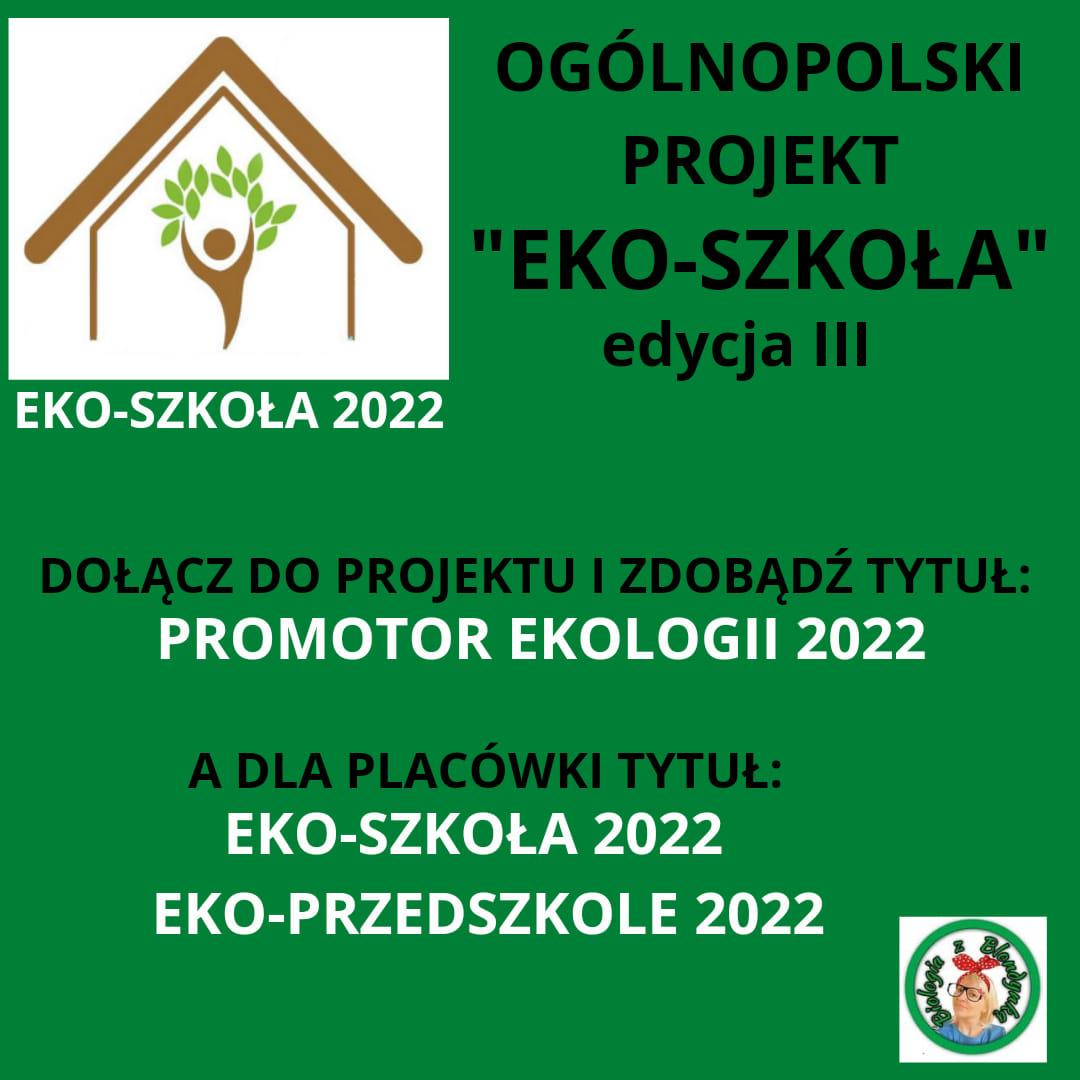 Ogólnopolski projekt EKO-SZKOŁA